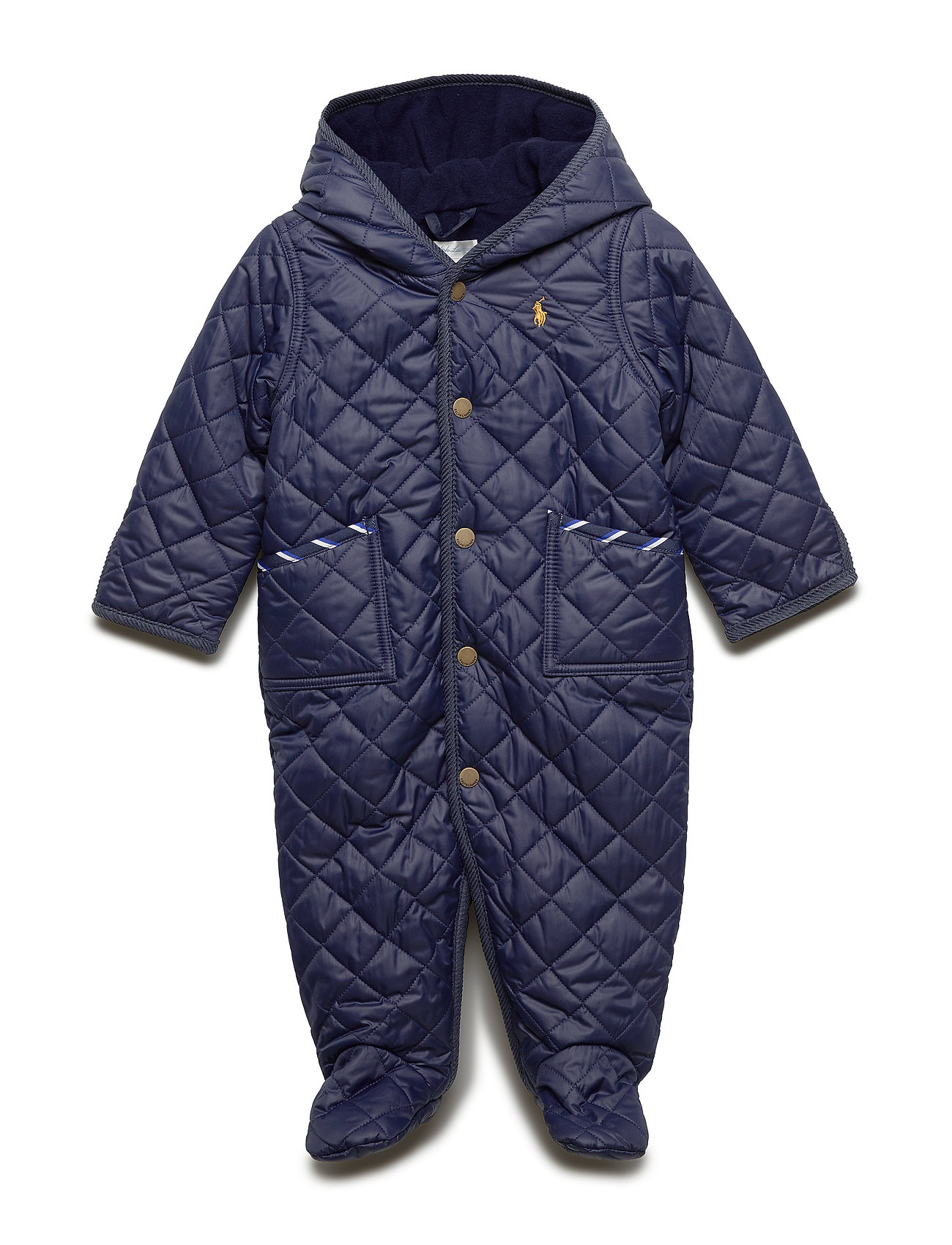 Ralph Lauren Baby Quilted Barn Bunting - FRENCH NAVY
