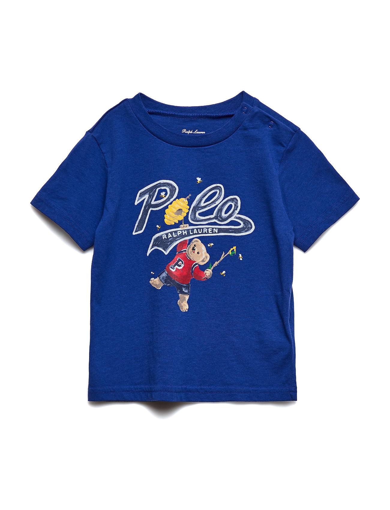Ralph Lauren Baby Honey Bear Cotton Jersey Tee - RUGBY ROYAL