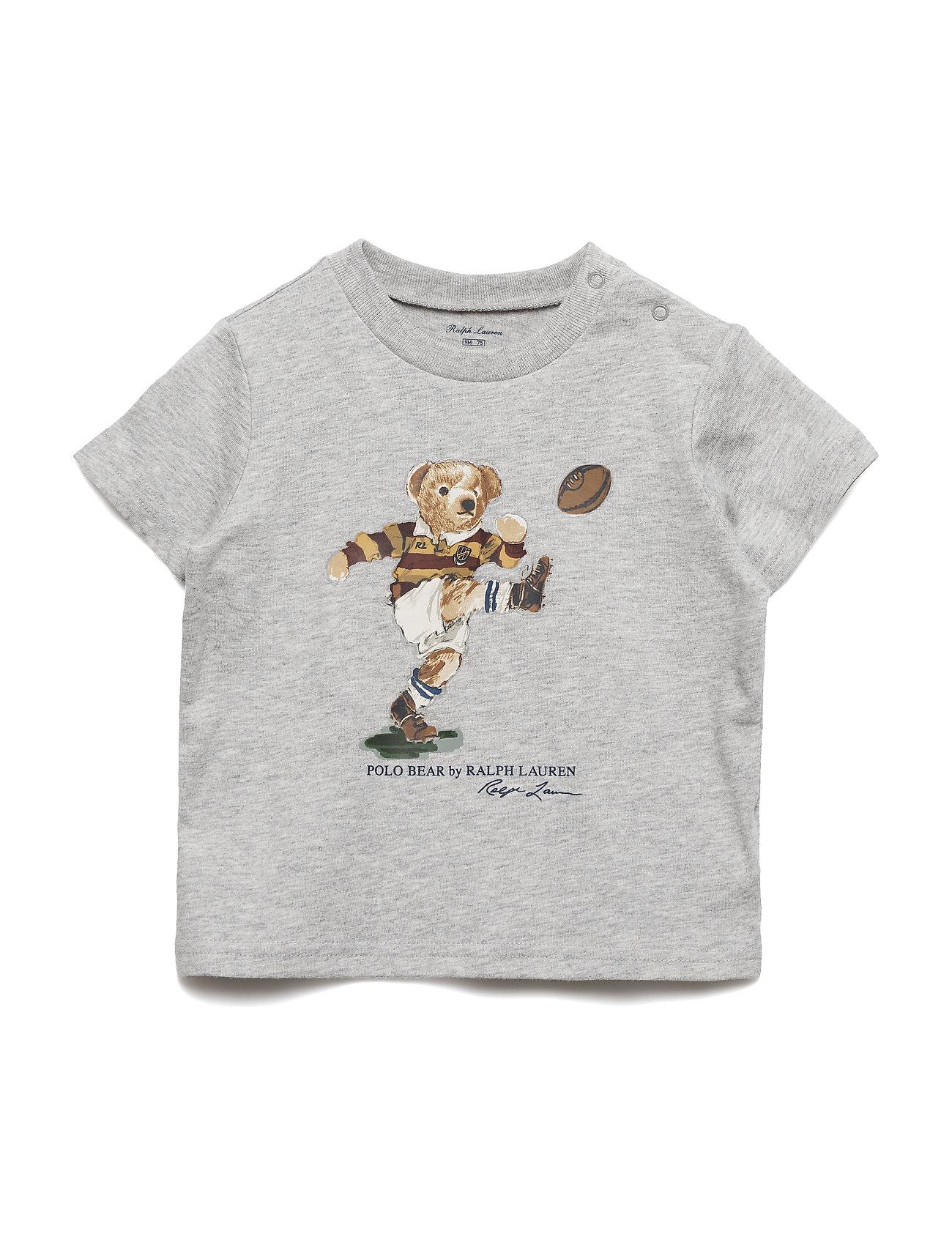 Ralph Lauren Baby Rugby Bear Cotton Jersey Tee - LT GREY
