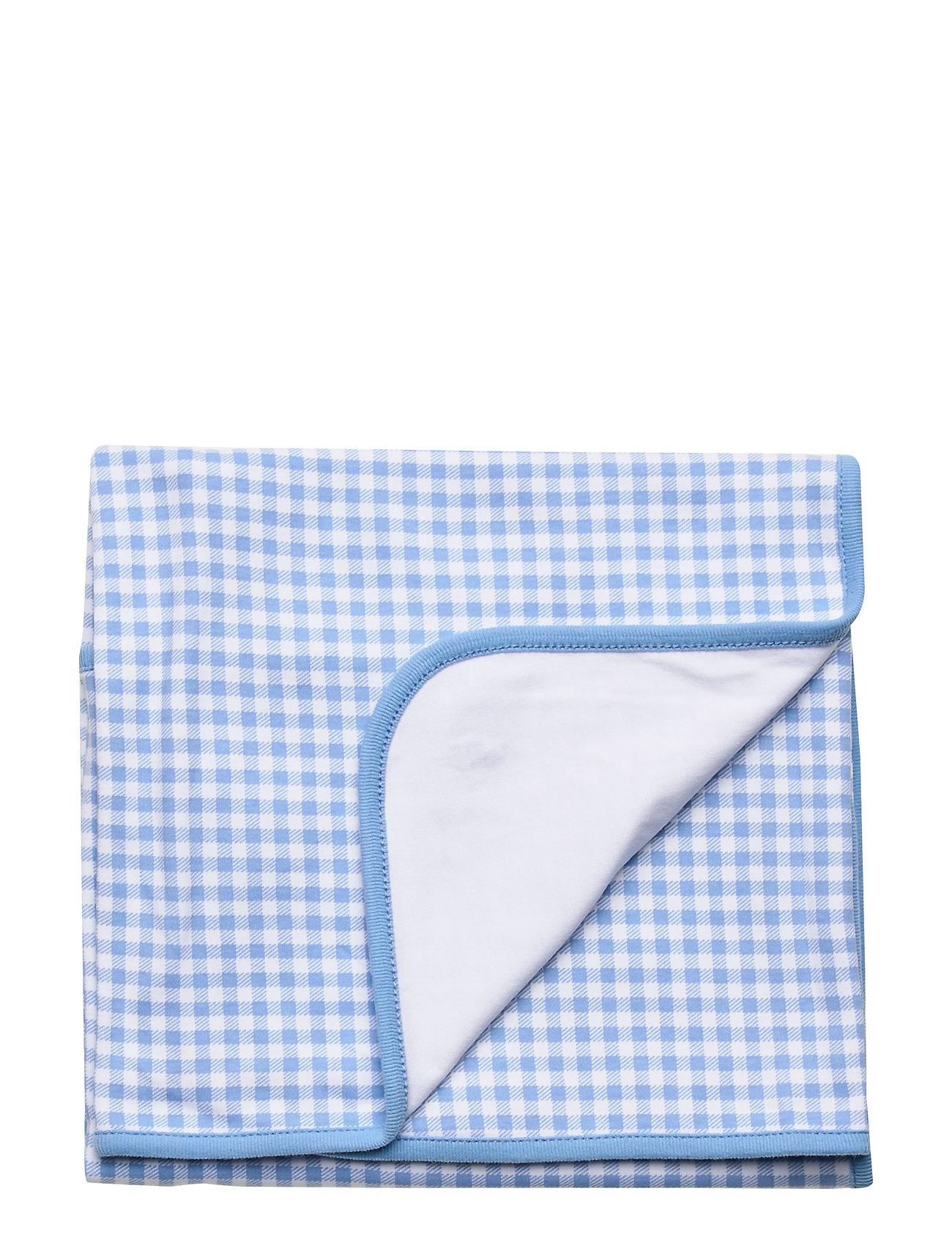 Ralph Lauren Baby Gingham Cotton Blanket - CHATHAM BLUE