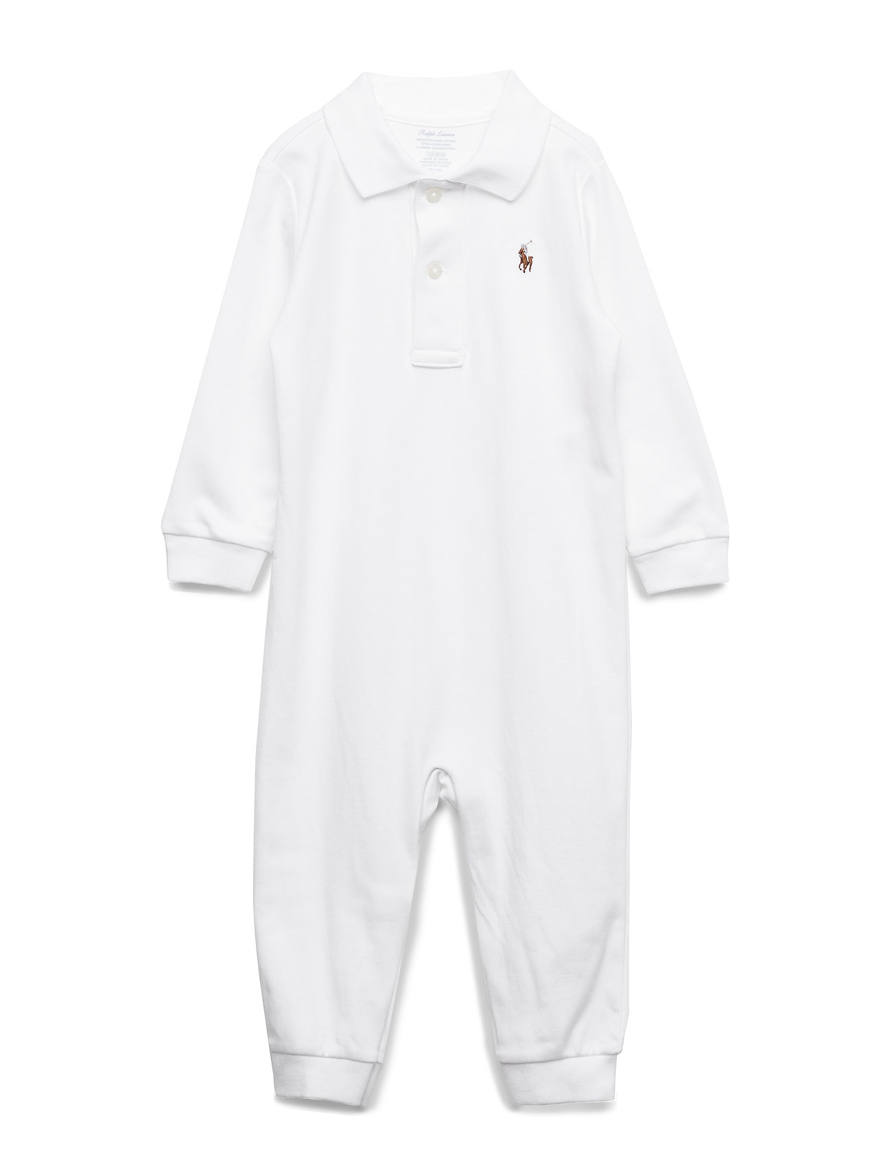 Ralph Lauren Baby POLO COVRALL-ONE PIECE-COVERALL - WHITE