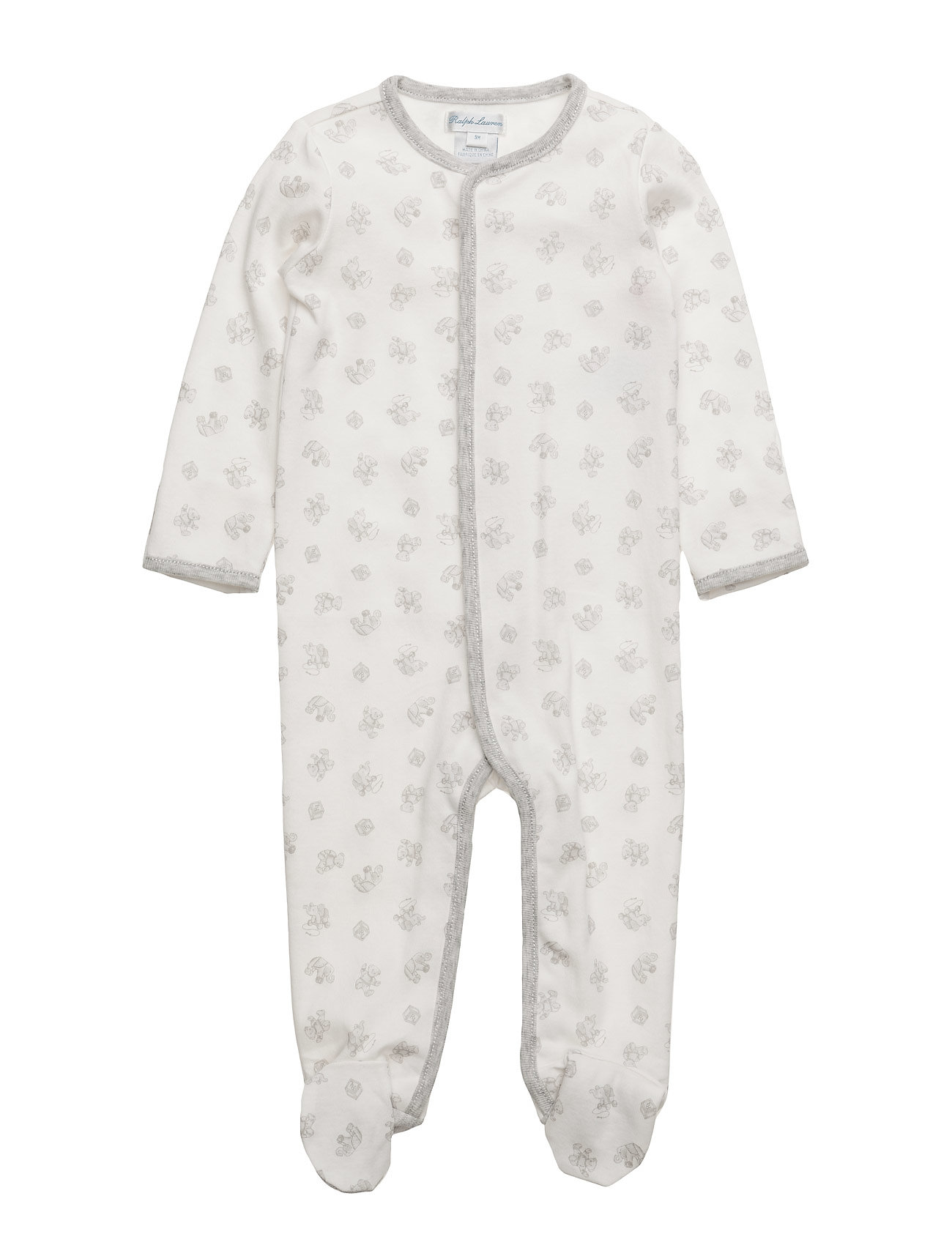 Ralph Lauren Baby Playtime-Print Cotton Coverall - PAPER WHITE MUL