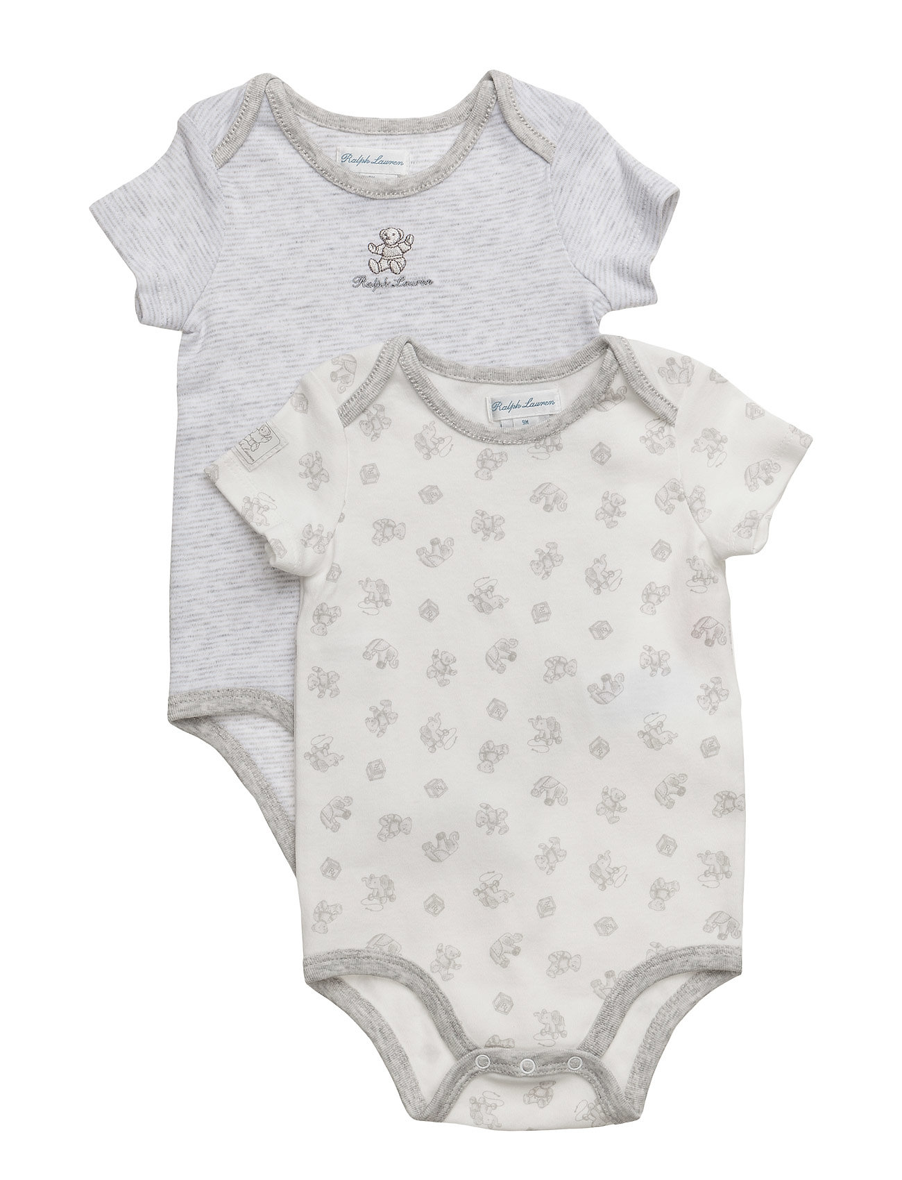 Ralph Lauren Baby Cotton Bodysuit 2-Piece Set - QUARTZ HEATHER