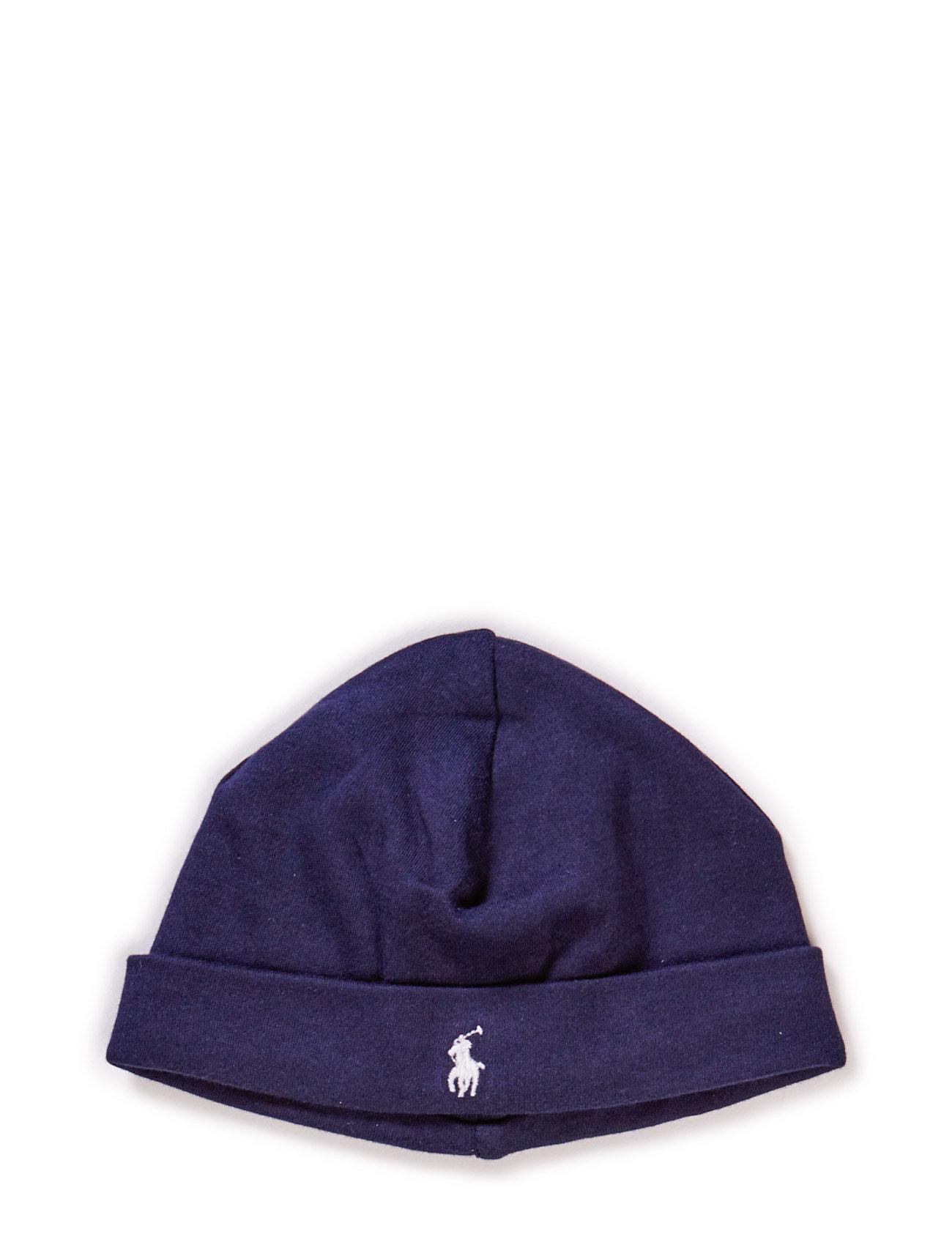 Ralph Lauren Baby Cotton Interlock Hat - FRENCH NAVY