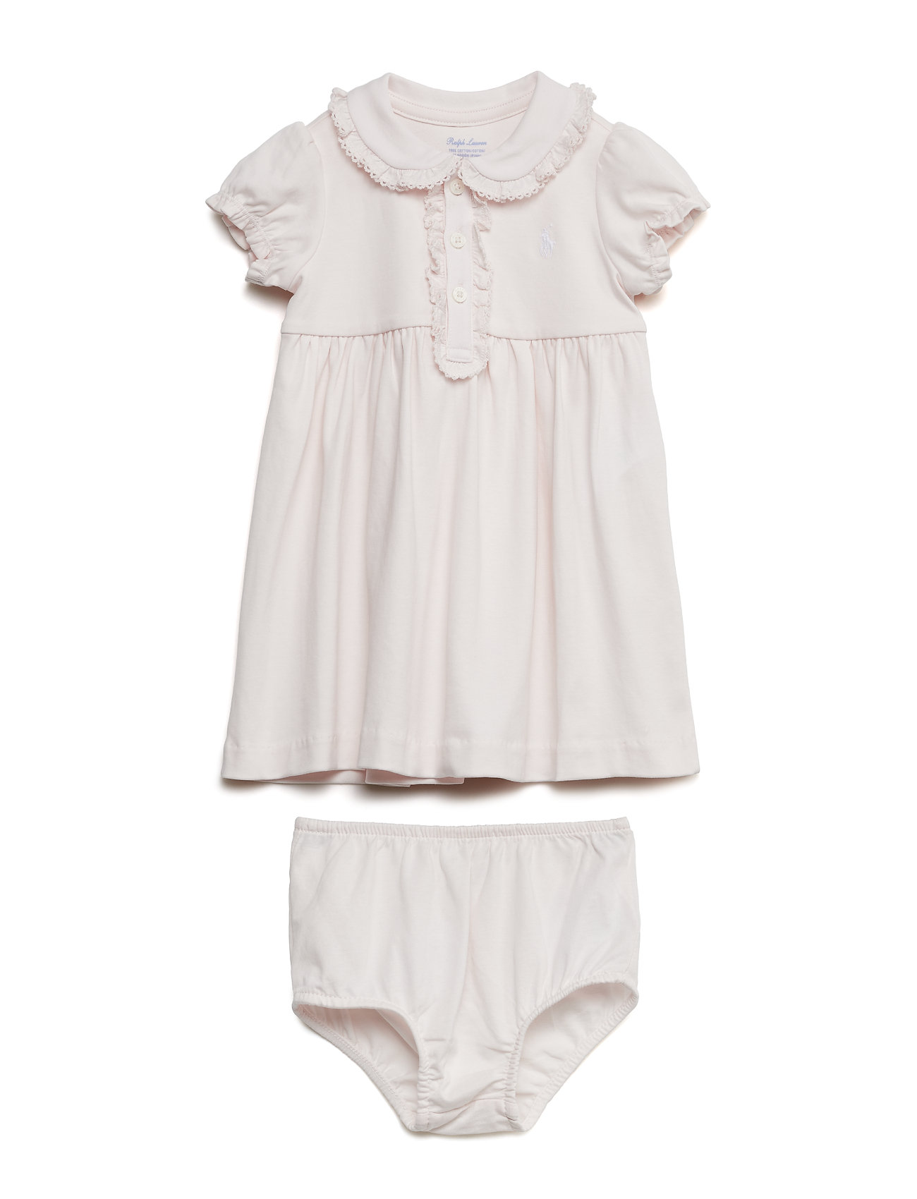 a99b56aeb26f Cotton Polo Dress & Bloomer (Delicate Pink) (£38.35) - Ralph Lauren ...