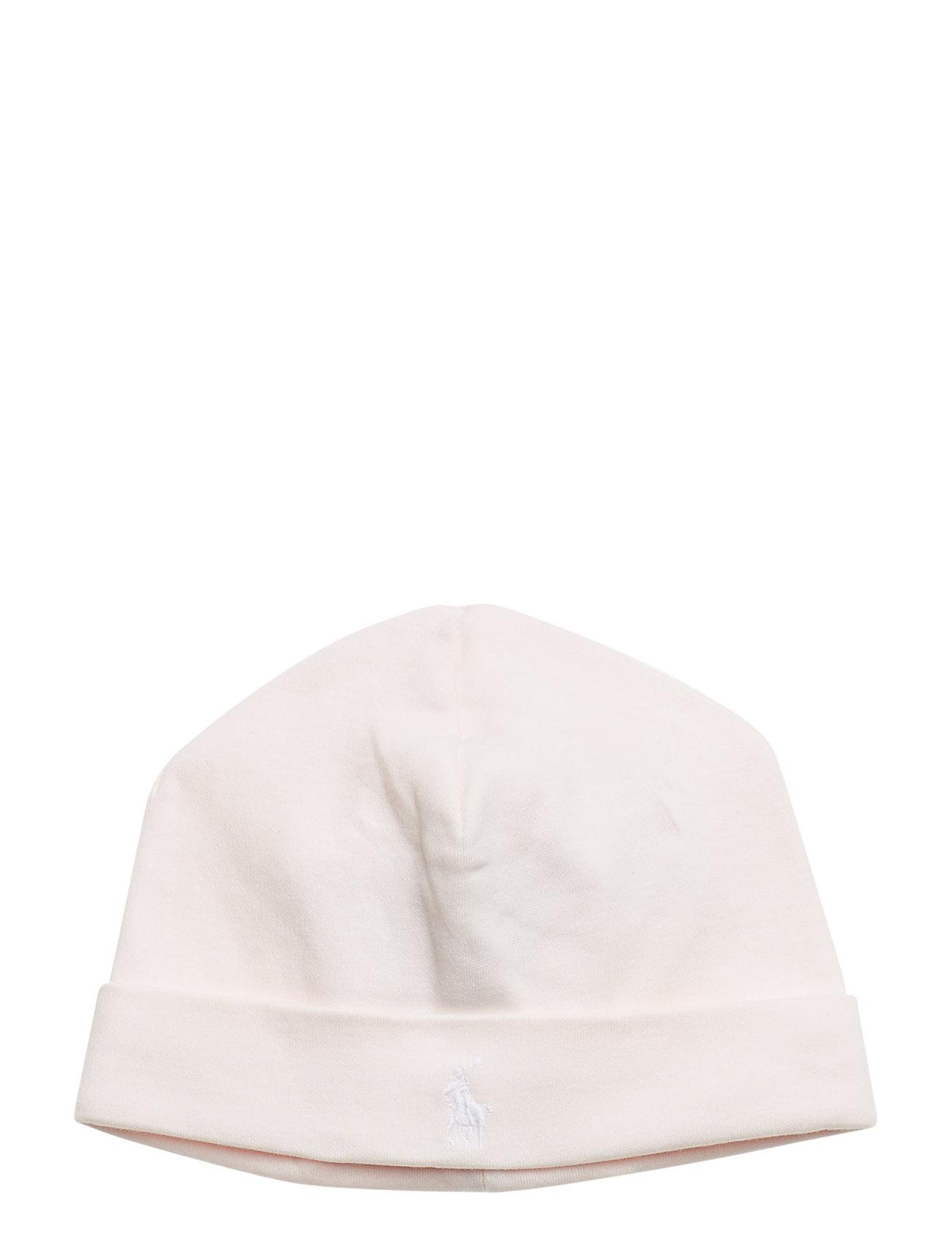 Ralph Lauren Baby Cotton Interlock Hat - DELICATE PINK