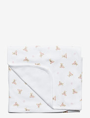 Ralph Lauren Baby - Polo Bear Cotton Blanket - sleep time - white/pink/multi - 0