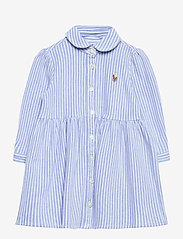 Striped Oxford Dress & Bloomer - HARBOR ISLAND BLU