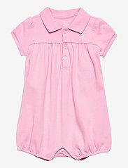 Ralph Lauren Baby - Interlock Bubble Shortall - kurzärmelige - carmel pink/white - 0