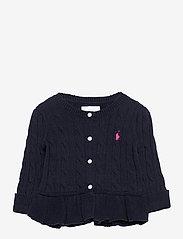 Ralph Lauren Baby - Cotton Peplum Cardigan - cardigans - rl navy - 0