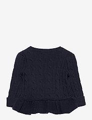 Ralph Lauren Baby - Cotton Peplum Cardigan - cardigans - rl navy - 1