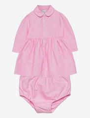 Ralph Lauren Baby - Pony Cotton Shirtdress - dresses - pink - 0
