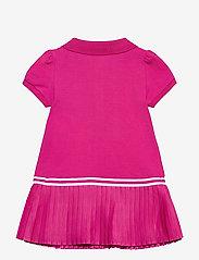 Ralph Lauren Baby - Pleated Polo Dress & Bloomer - kjoler - accent pink - 1