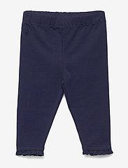 Ralph Lauren Baby - Ruffled Stretch Cotton Legging - leggings - french navy - 0