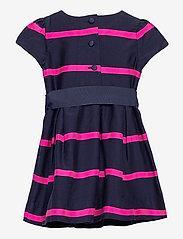Ralph Lauren Baby - Striped Sateen Dress & Bloomer - dresses - french navy multi - 1