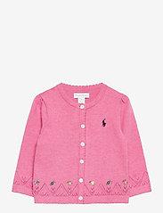 Ralph Lauren Baby - COTTON-FINE CARDI-TP-SWT - cardigans - preppy pink heath - 0
