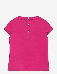 Ralph Lauren Baby - Backpack Bear Cotton Tee - short-sleeved - college pink - 1