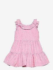 Ralph Lauren Baby - Tiered Seersucker Dress & Bloomer - kjoler - pink/white - 0