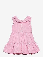Ralph Lauren Baby - Tiered Seersucker Dress & Bloomer - kjoler - pink/white - 1