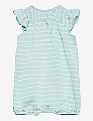 Ralph Lauren Baby - YD JERSEY-YD BUBBLE-OP-SHA - kurzärmelig - crystal blue/whit - 1