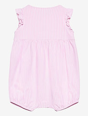 Ralph Lauren Baby - YD OXFORD MESH-KNIT BUBBLE-OP-SHA - short-sleeved - carmel pink/white - 1
