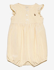 Ralph Lauren Baby - Oxford Mesh Bubble Shortall - kortærmede - yellow/white - 0