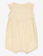 Ralph Lauren Baby - Oxford Mesh Bubble Shortall - kortærmede - yellow/white - 1
