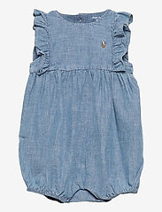 Ralph Lauren Baby - Chambray Cotton Bubble Shortall - kurzärmelig - indigo - 0