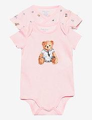 Ralph Lauren Baby - Polo Bear Bodysuit 2-Piece Set - kurzärmelige - pink multi - 0