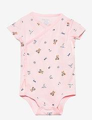 Ralph Lauren Baby - Polo Bear Bodysuit 2-Piece Set - kurzärmelige - pink multi - 2
