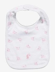Ralph Lauren Baby - Nautical Cotton Interlock Bib - bibs - white multi - 0