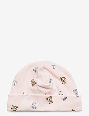 Ralph Lauren Baby - Polo Bear Interlock Hat - hats - pink multi - 0