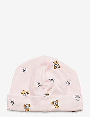 Ralph Lauren Baby - Polo Bear Interlock Hat - hats - pink multi - 1