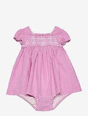 Ralph Lauren Baby - Gingham Cotton Seersucker Dress - kleider - pink/white - 0