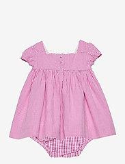 Ralph Lauren Baby - Gingham Cotton Seersucker Dress - kleider - pink/white - 1
