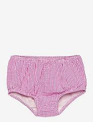 Ralph Lauren Baby - Gingham Cotton Seersucker Dress - kleider - pink/white - 2