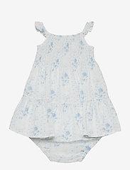 Ralph Lauren Baby - Smocked Dress & Bloomer - kleider - blue-white - 1