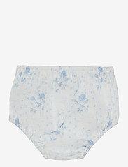Ralph Lauren Baby - Smocked Dress & Bloomer - kleider - blue-white - 3