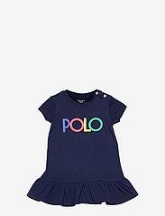Ralph Lauren Baby - Logo Ruffled Tee Dress & Bloomer - kleider - french navy - 0