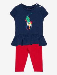 Ralph Lauren Baby - Big Pony Tee & Legging Set - kleider - french navy - 0