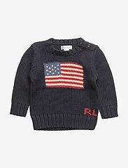 Ralph Lauren Baby - Flag Cotton Sweater - neuleet - hunter navy - 0