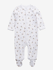 Ralph Lauren Baby - Polo Bear Cotton Coverall - pitkähihaiset - white/blue multi - 0