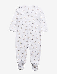 Ralph Lauren Baby - Polo Bear Cotton Coverall - pitkähihaiset - white/blue multi - 1