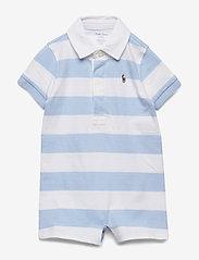 Ralph Lauren Baby - Striped Cotton Rugby Shortall - kurzärmelig - beryl blue multi - 0