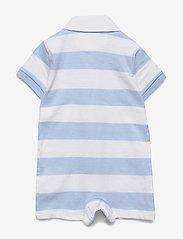 Ralph Lauren Baby - Striped Cotton Rugby Shortall - kurzärmelig - beryl blue multi - 1