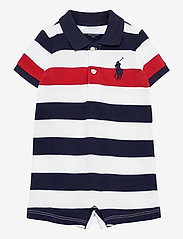 Ralph Lauren Baby - Big Pony Cotton Mesh Shortall - krótki rękaw - newport navy mult - 0