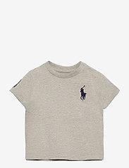 Ralph Lauren Baby - Big Pony Cotton Jersey Tee - kortærmede - new grey heather - 0