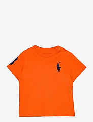 Ralph Lauren Baby - Big Pony Cotton Jersey Tee - kortærmede - sailing orange - 0