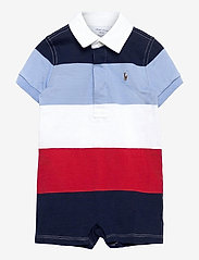 Ralph Lauren Baby - Striped Cotton Rugby Shortall - kurzärmelig - sunrise red multi - 0