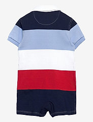 Ralph Lauren Baby - Striped Cotton Rugby Shortall - kurzärmelig - sunrise red multi - 1
